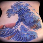 Tatouage de vague du japon a hokusai par jessi lawson