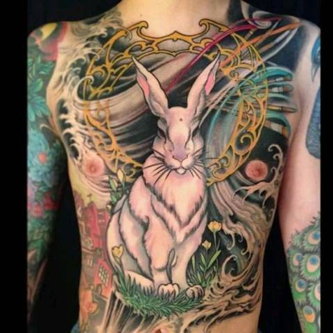Tatouage lapin mythique par jeff gogue