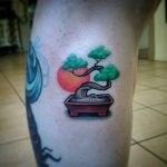 Tatouage zen bonsai par ale v